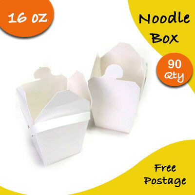 Party Noodle Box White Noodle Boxes Cardboard 8 Oz 90 pc Small Chinese Noodle B