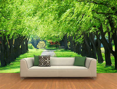 Green Trees Swaying Full Wall Mural Photo Wallpaper Printing 3D Decor Kids Home