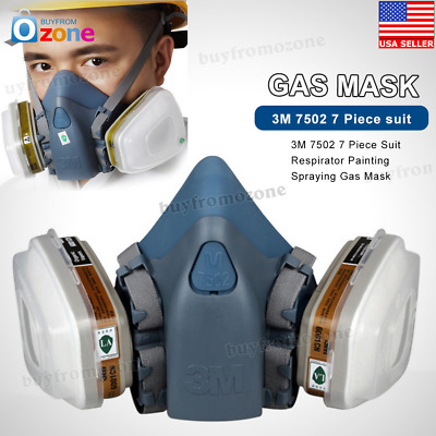 3M 7502 7 Piece Suit Respirator Painting Spraying Face Gas Mask 2018 Hot Sell