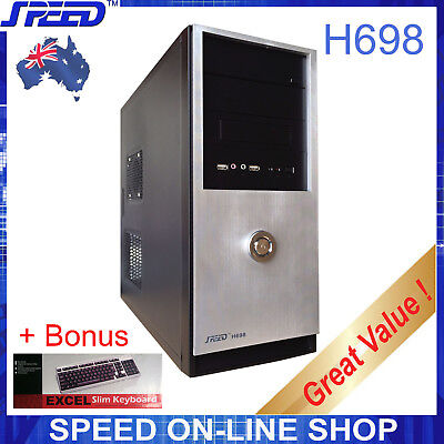 SPEED H698 Computer PC Case for Office or Gaming with Bonus - Free Keyboard