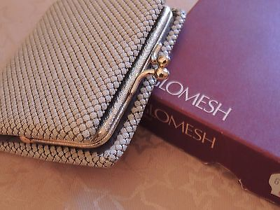 Vintage Rare 1984 Glomesh Wallet Purse In Original Box Rare Colour Never Used