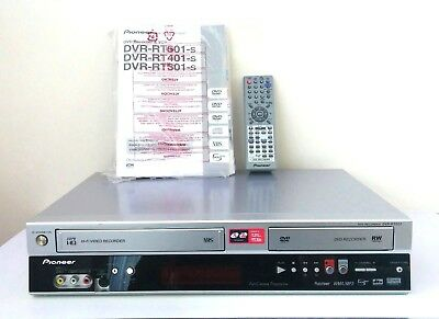 Pioneer DVD Recorder & VCR - DVR-RT501-S with Remote & Instructions