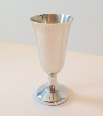 Vintage Wallace Sterling Silver Cordial Cup Shabbos Jewish
