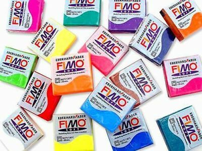 Genuine FIMO SOFT Polymer Clay 56g Blocks - MULTIPLE COLOURS!!