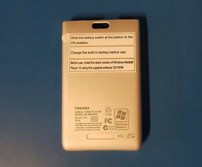 Genuine Toshiba MES60V GigaBeat MP3 Player Base Cover Assembly Grey P000469260