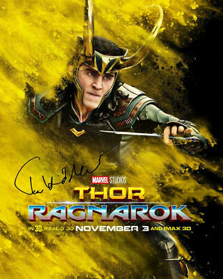 Thor Ragnarok Tom Hiddleston Loki Signed Photo Autograph Reprint