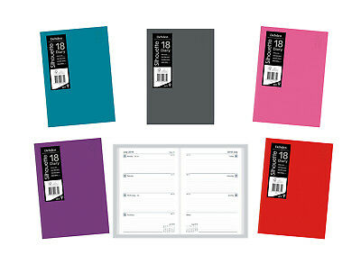 2018 Debden Silhouette S5700 Diary Diaries A5 Week To Open - Assorted