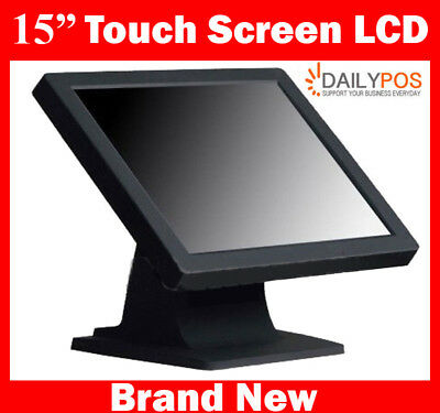 "Brand New 15"" Touch Screen Monitor for Point of Sale POS Cash Register"