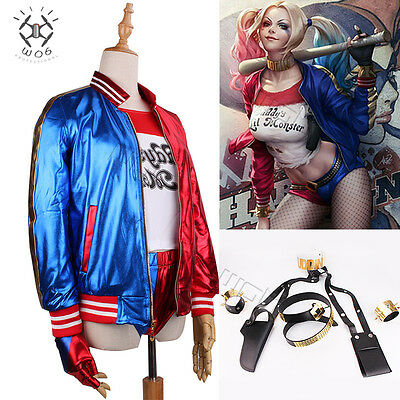 Suicide Squad Harley Quinn Daddy's Coat Lil Jacket Costume Shorts Accesories Lot