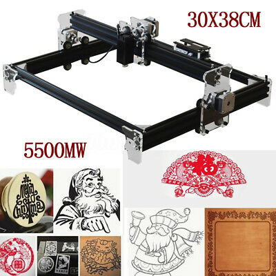 5500MW DIY Laser Engraving CNC Machine Engraver Cutter Printer Desktop Cutting