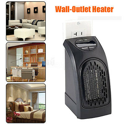 AU 240V 350W Handy Portable Electric Heater Fan Wall-Outlet  Air Warmer Silent