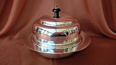 CHARLES GREEN & Co SILVER PLATED MUFFIN WARMER DISH