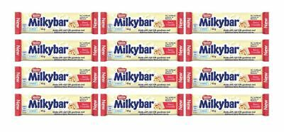 911953 12 x 45g BARS OF NESTLE MILKYBAR BERRY CRUMBLE CHOCOLATE SNACK!