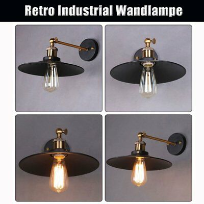 retro vintage e27 eisen industrielampe wandlampe. Black Bedroom Furniture Sets. Home Design Ideas