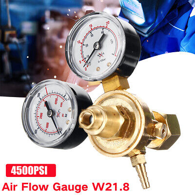 Argon CO2 Gas Bottle Pressure Regulator MIG TIG Welding Flow Meter Gauge W21.8