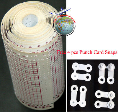 Blank Punch Card Roll 24 Stitch 3.2M For Brother Singer Knitting Machine KH868