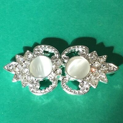 Rhinestone Clasp 52mm Across Clothing Fastener #561