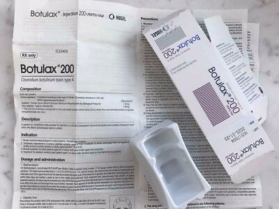 Paper instruction and box for Botulax 200U (Botulinum Toxin type A).Without vial