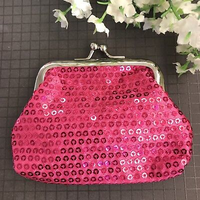 Gorgeous Pink Sequence Coin Purse