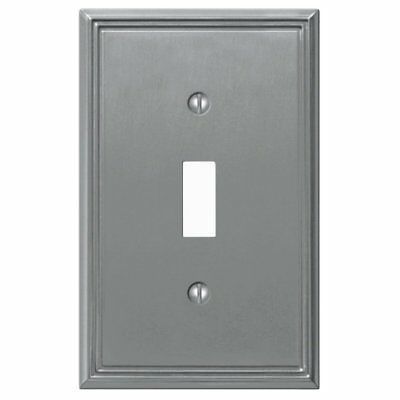 Amerelle 77TBN Metro Line 1 Toggle Wall Plate, Brushed Nickel