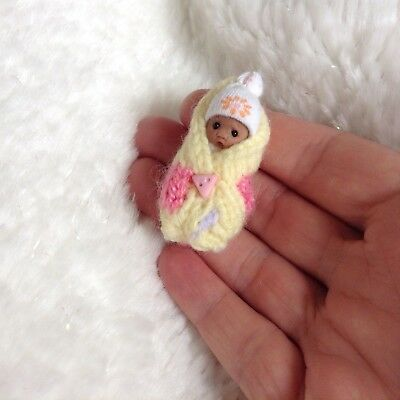 OOAK Miniature Handmade Bundle Baby 1:12 clay doll DOLLHOUSE NURSERY by Sheryl