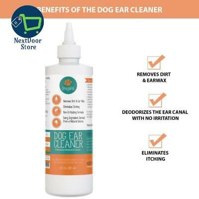 Dog Ear Cleaner Gentle Natural Drops Best for Yeast, Mites and Infection