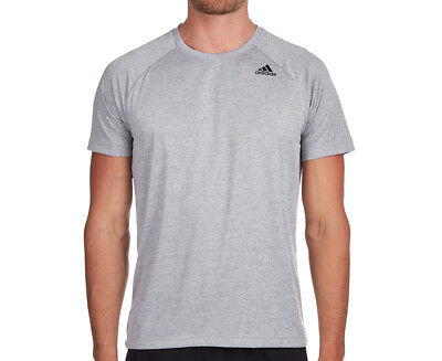 Adidas Men's D2M Heather Tee - Medium Grey