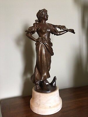 Victorian Spelter Figure of a Lady