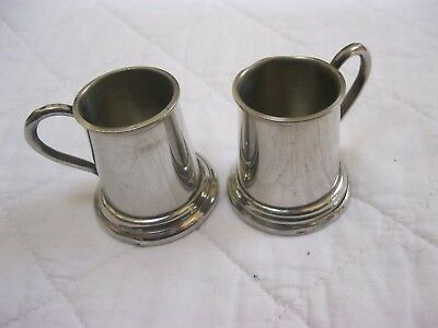 Mini Pewter Tankards / Goblets from Scotland 4.5cm high