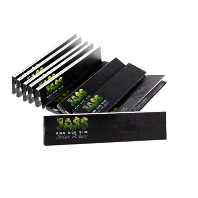 3 Boxen (150x) Jass Papers Black Edition King Size Slim Blättchen ultra dünn