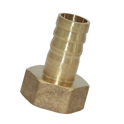 Straight Brass Fitting BSP 3/4'' Female 16mm Barb Quick Joint Pipe Connector