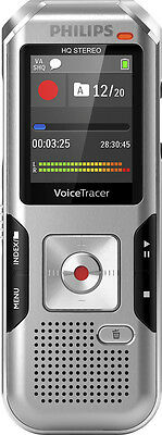 Philips - Voice Tracer Audio Recorder - Silver shadow/chrome