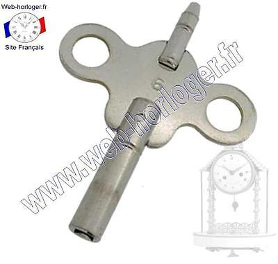 key Double for pendulum or Clock N°4 à 8 - Carriage Clock key, Double Ended