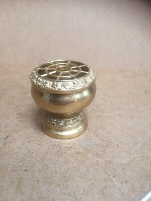 Small Ianthe Gold Plated Rose Bowl Vintage Retro