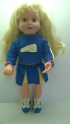 """Playmates Toys Amazing Ally 18"""" Interactive Doll Blonde With Blue Eyes 1999"""