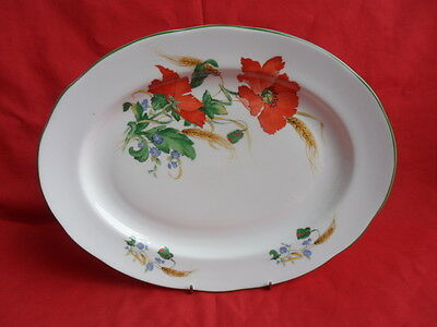 Duchess, Poppies,  Oval Platter