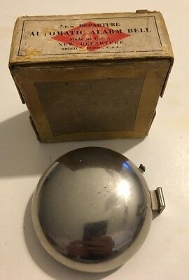 Antique The New Departure Automatic Alarm Bell Doorbell Mechanical In Box