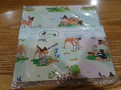 Disney Bambi Gift Wrap Paper Thumper Flower Deer Bunny Skunk Any Occasion