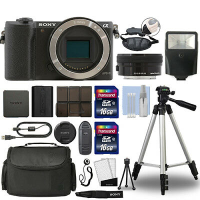 Sony Alpha a5100 Mirrorless Digital Camera with 16-50mm Lens Black + 32GB Bundle