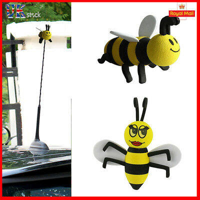 Car Antenna Toppers Smiley Honey Bumble Bee Aerial Ball Antenna Topper UK
