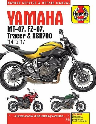 Yamaha MT-07, Tracer & XSR700 2014 - 2017 Haynes Manual 6385 NEW