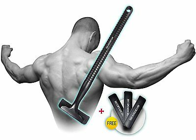 Back Hair Shaver Body Trimmer Removal Razor large 5 inch+3 Free Blades FOR MEN