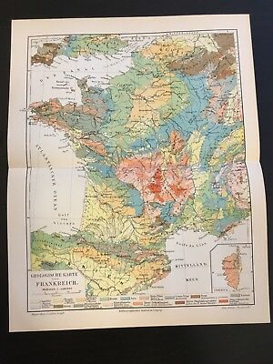 Geological Map of France c. 1904