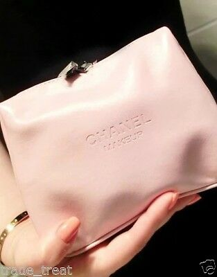 Brand New Boxed Chanel Baby Pink Zip Make Up/cosmetic Bag
