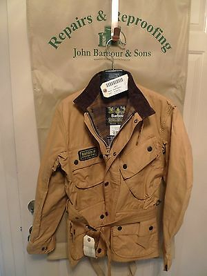 Barbour- A10 International  Jacket- Rewaxed @ Barbour- Rare-Made In Uk-Size 40