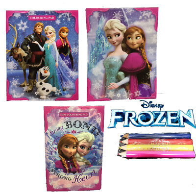 Kids Girls DISNEY FROZEN Play Pack Colouring Pad with 30 colouring pages