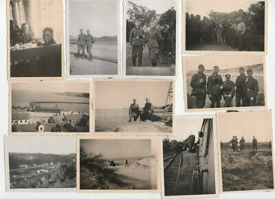-12- Original portret WWII GERMAN  officer and soldier -