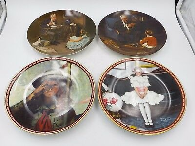 Norman Rockwell Heritage Collection, A Mind of Her Own China Plates Lot of 4