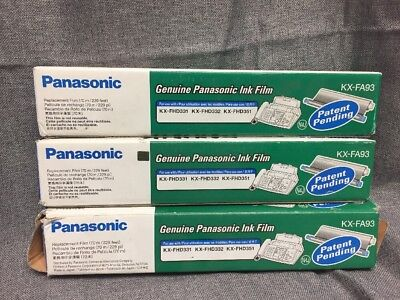 Lot 3 Panasonic KX-FA93 Replacement Ink Film For KX-FHD331 FHD332 FHD351
