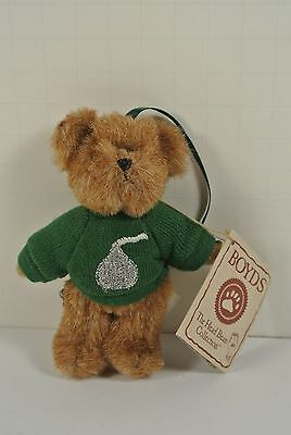 """Boyds Bear """"Merry Kisses"""" Hershey Exclusive- 4"""" Bear Ornament Rare 94220HE"""